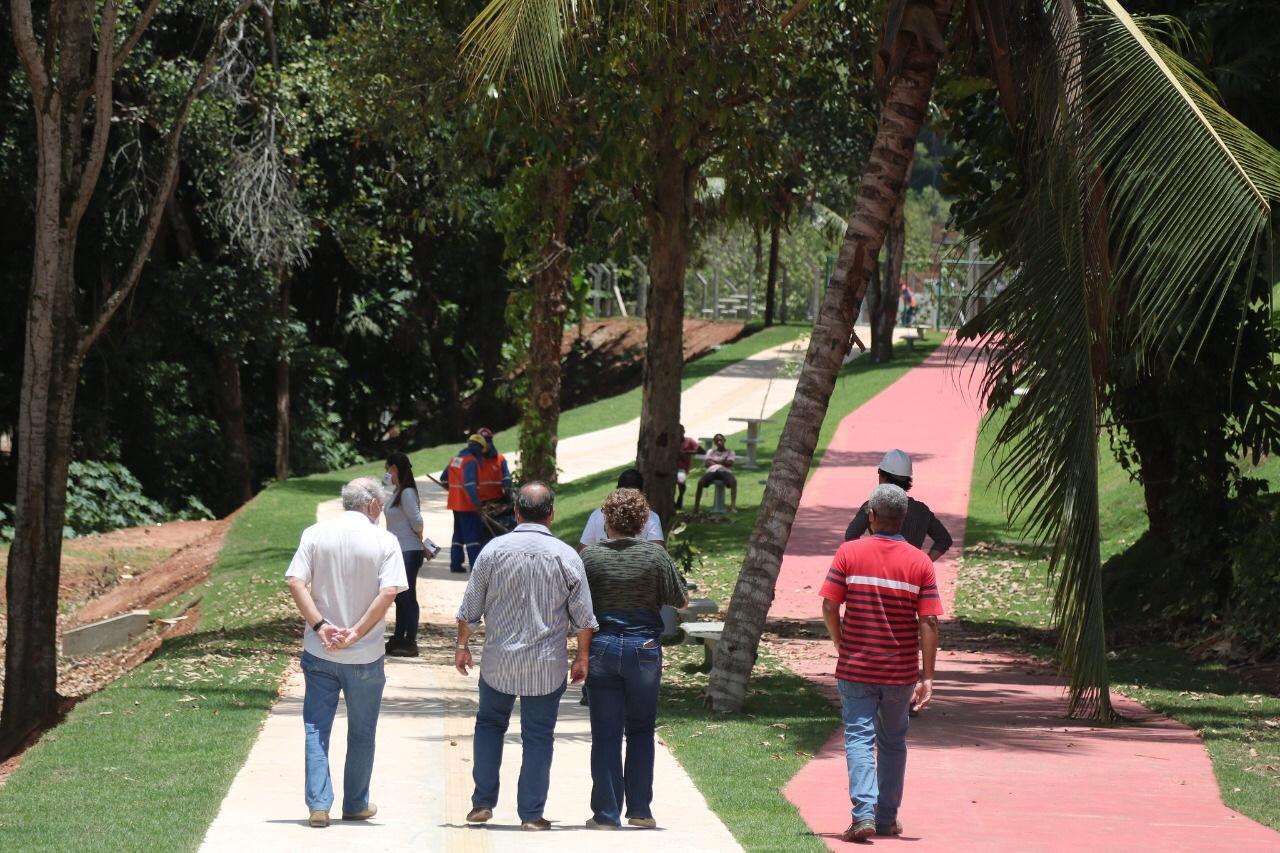 Prefeitura e Conder realizam vistoria em reservatórios da macrodrenagem do Rio Ipitanga