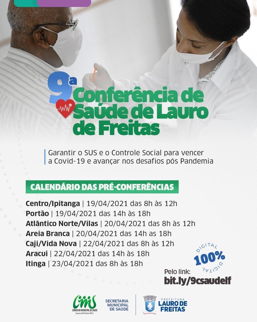 Lauro de Freitas inicia Pré-conferência Municipal de Saúde na segunda-feira (19)