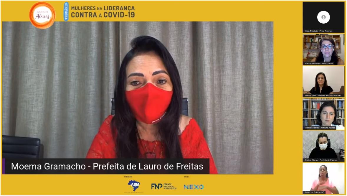 Em live, Moema fortalece time de mulheres líderes no combate à pandemia