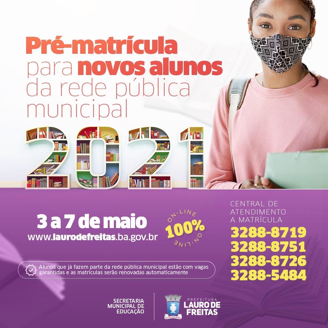 Matrículas para rede municipal de Lauro de Freitas estão abertas até sexta (7)