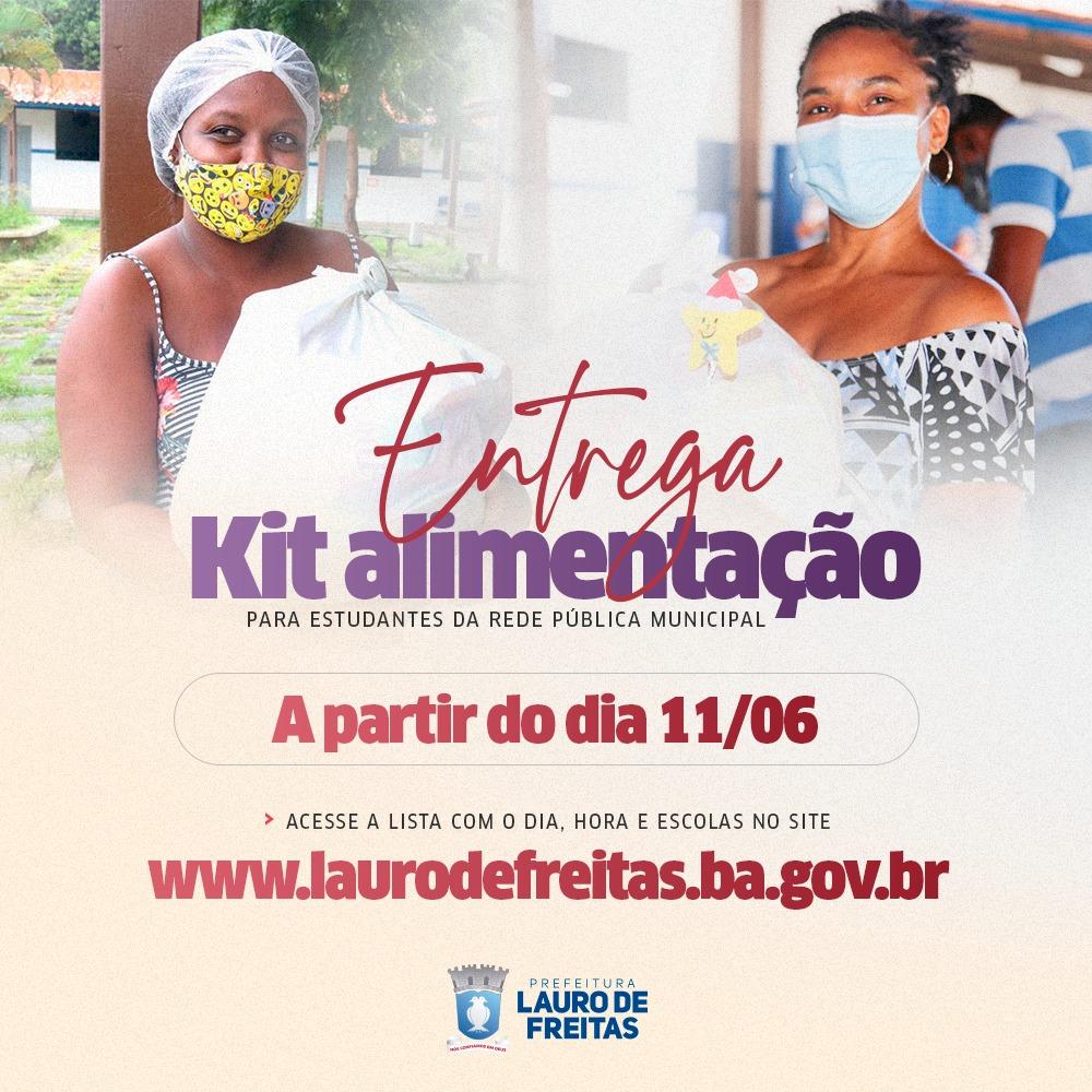 Lauro de Freitas inicia distribuição de kits alimentação para alunos da rede municipal nesta sexta-feira (11)