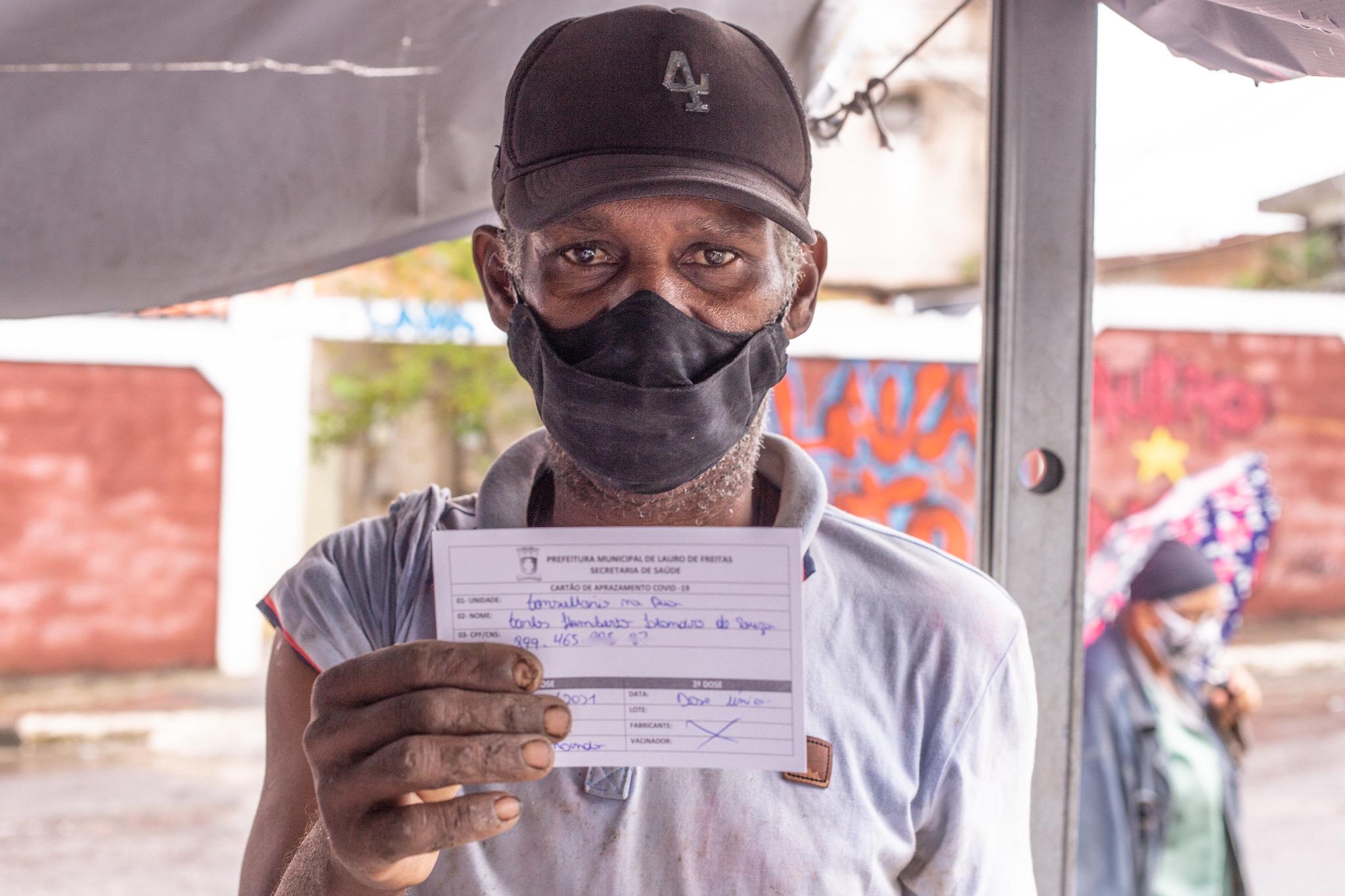 Lauro de Freitas atinge a marca dos 50% do público-alvo vacinado com 1ª dose contra a Covid-19