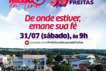 Missa, entrega de praça e live cultural marcam o dia do aniversário de emancipação de Lauro de Freitas