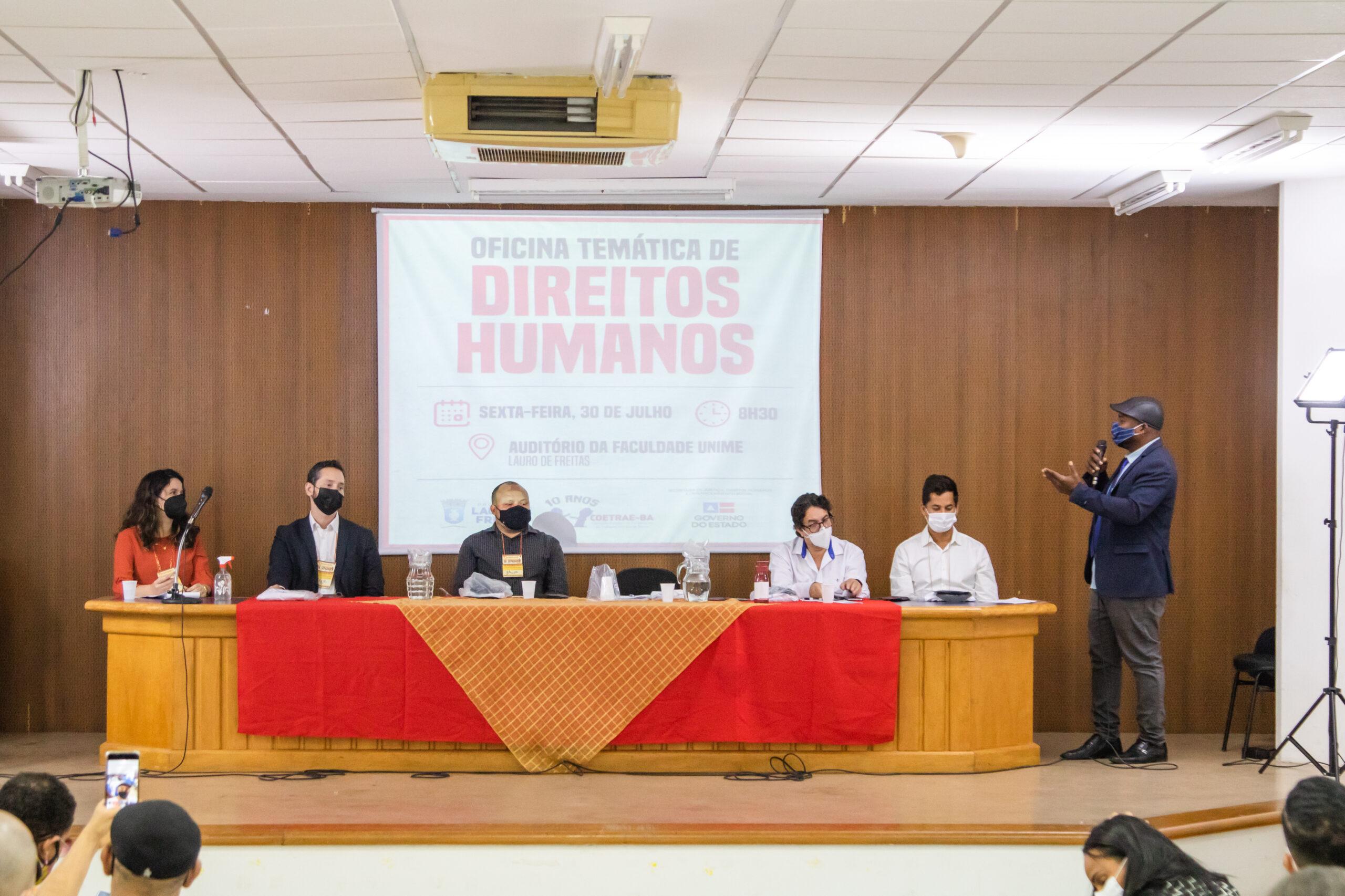 Oficina sobre Direitos Humanos é realizada em Lauro de Freitas com palestras sobre crimes relacionados ao trabalho escravo e tráfico de pessoas
