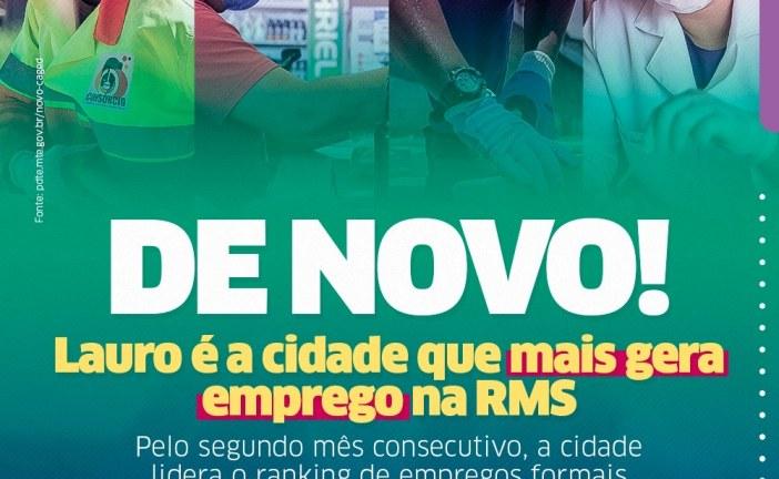 Lauro de Freitas mantém liderança na geração de empregos formais na RMS