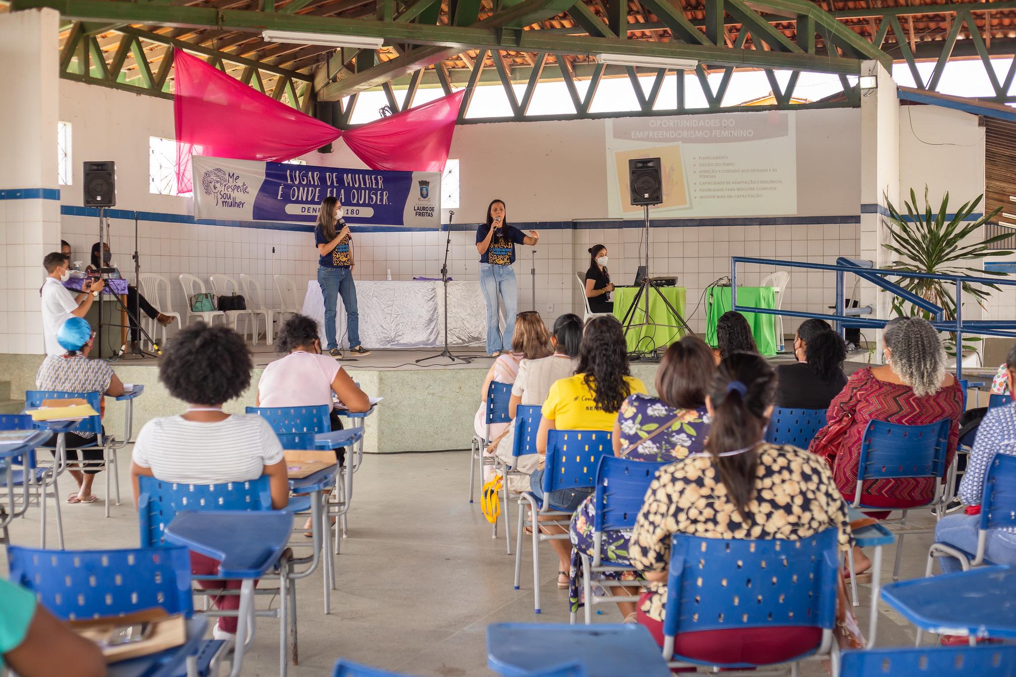 Luta pelo fim da violência contra a mulher vai além da campanha Agosto Lilás, diz SPM de Lauro de Freitas