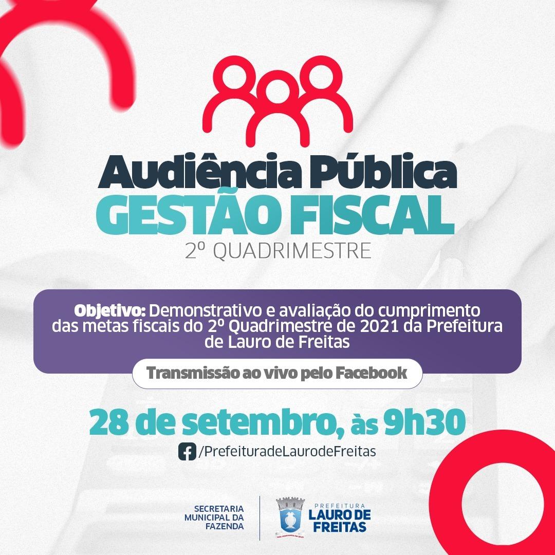 Prefeitura realiza nesta terça-feira (28) audiência pública para demonstração do cumprimento das metas fiscais