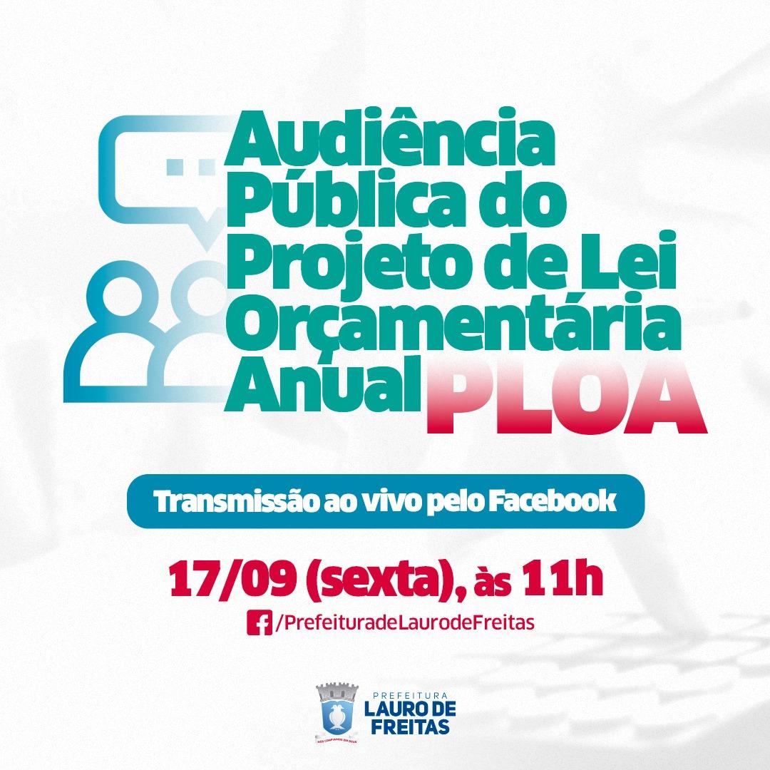 Audiência Pública do PLOA será realizada nesta sexta-feira (17) em Lauro de Freitas