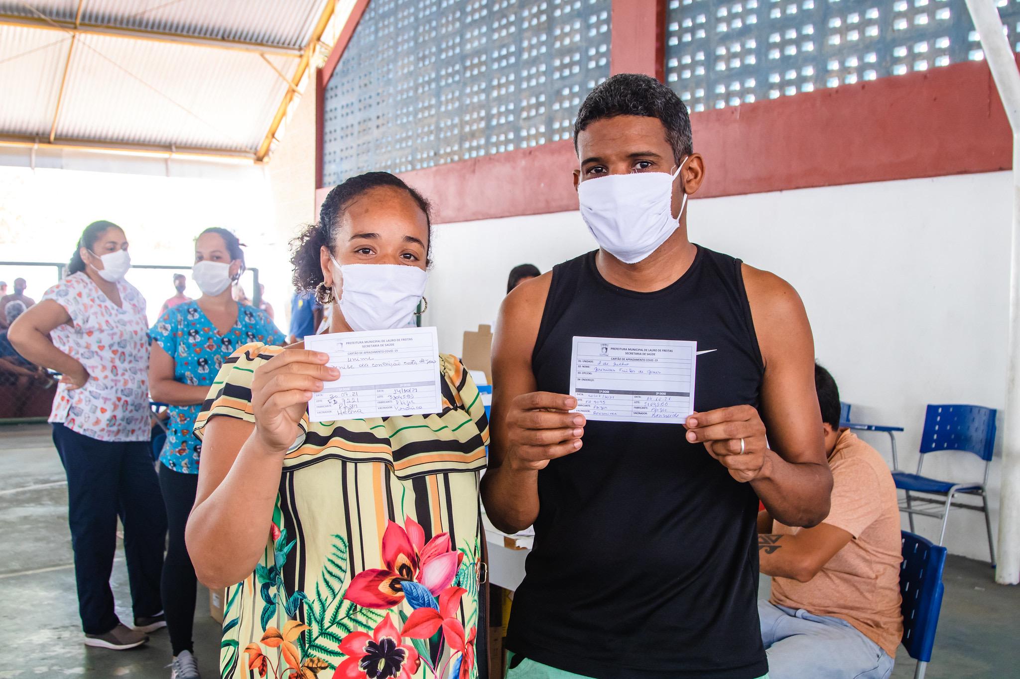 Mais de 93 mil pessoas já receberam a 2ª dose ou dose única da vacina contra a Covid-19 em Lauro de Freitas