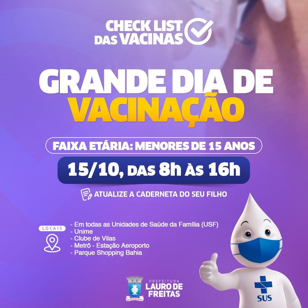 Lauro de Freitas intensifica campanha de multivacinação nesta sexta (15) e sábado (16)