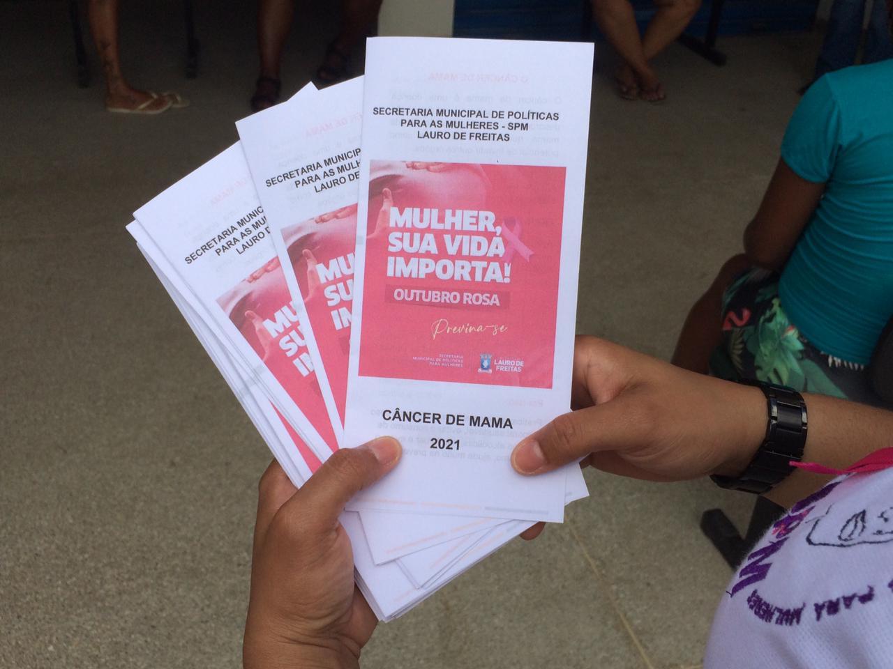 Outubro Rosa: SPM promove conscientização sobre o câncer de mama em Lauro de Freitas