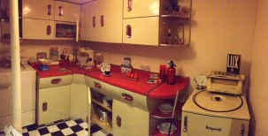 The kitchen cleaned and redisplayed.