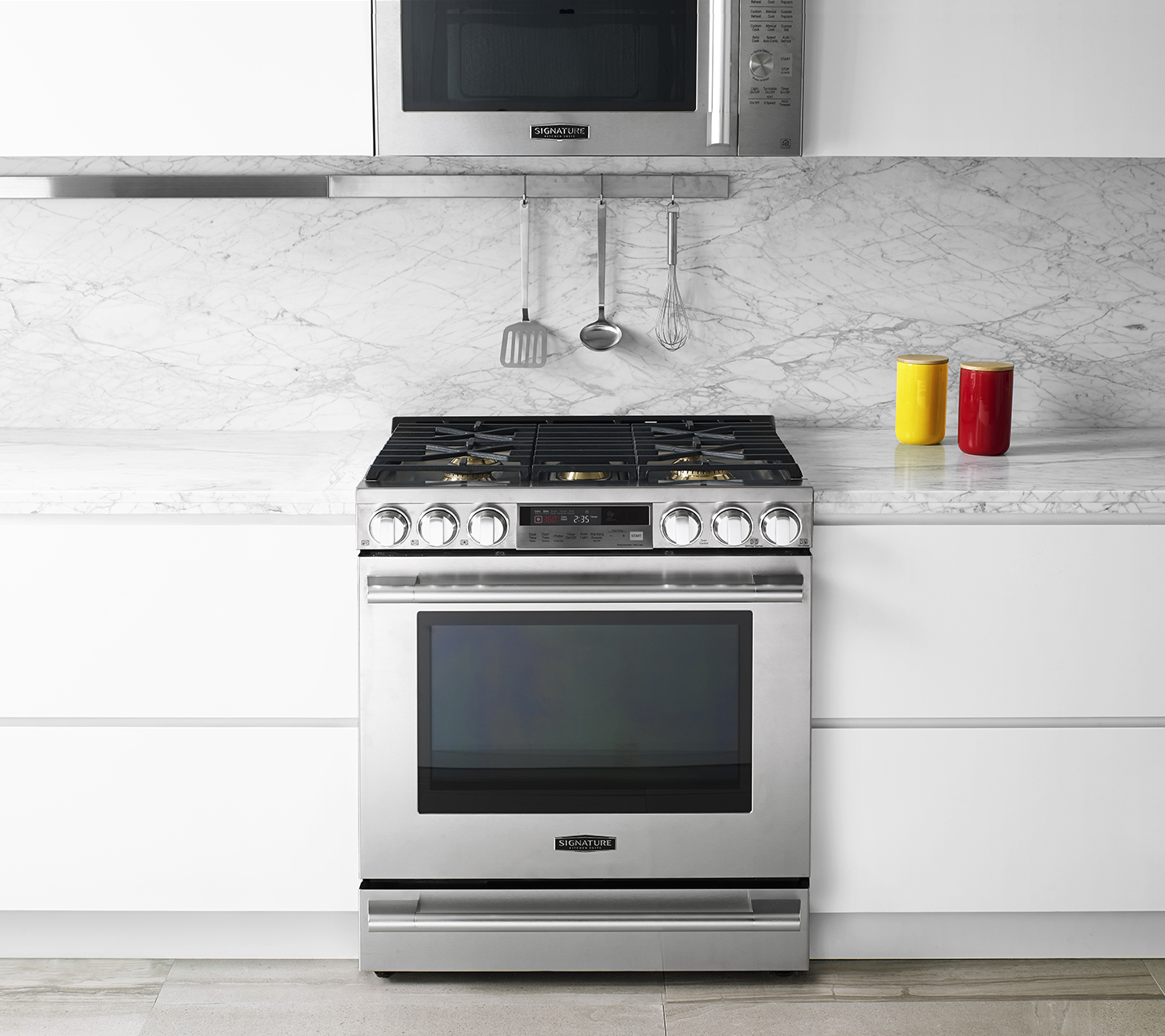 kitchen stove gas commercial floor tile 30 slide in range signature suite inch from
