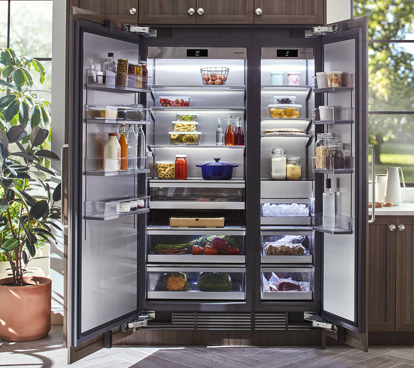 signature kitchen warehouse sale how to redo cabinets 18 quot integrated column freezer built in and panel ready