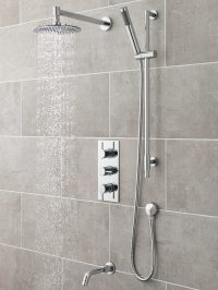 Ultra Quest Triple Concealed Thermostatic Valve With Diverter
