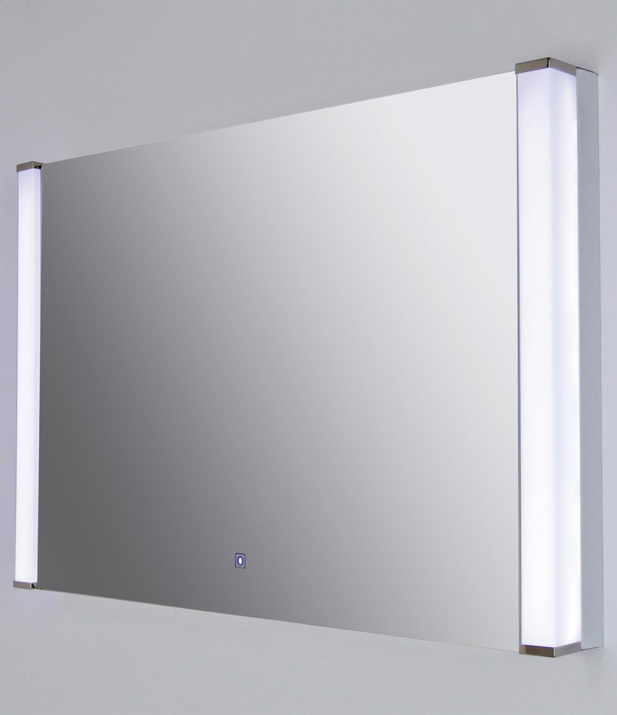 RAK Luminere 775 x 500mm White Framed Bathroom Mirror