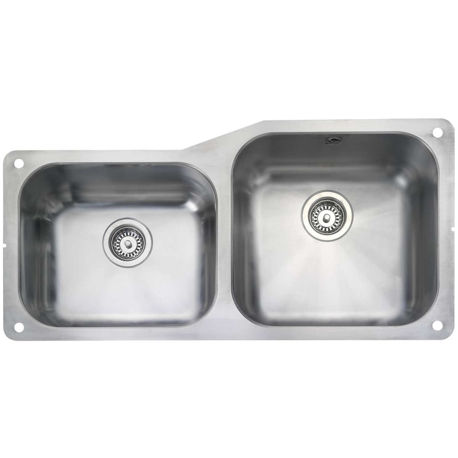 classic kitchen sink how to arrange pots and pans in rangemaster atlantic 2 bowl undermount small lh