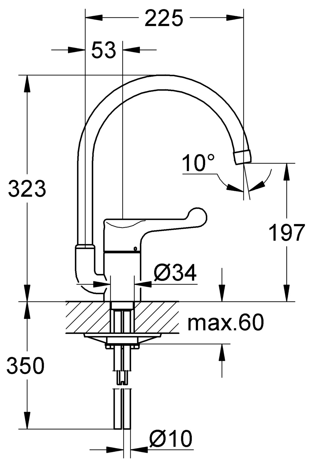 Grohe Euroeco Special Single Lever Safety Kitchen Sink