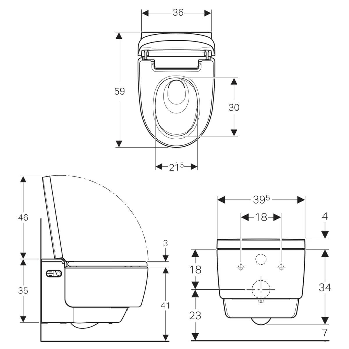 Geberit Aquaclean Mera Comfort 395 X 590mm Toilet With
