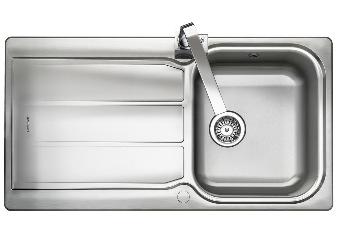 rangemaster glendale single bowl kitchen stainless steel sink