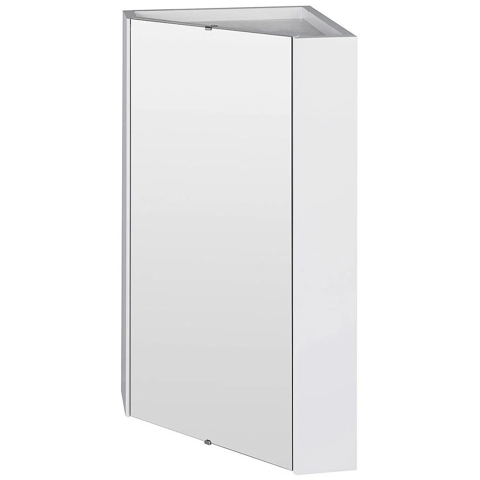 Wall Cabinets For Bathrooms Premier Mayford High Gloss White 459mm Corner Mirror Cabinet