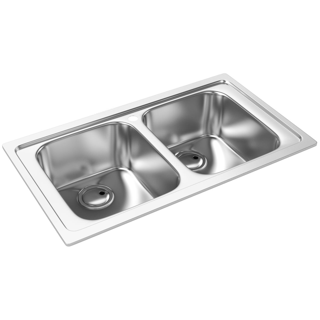 Abode Kode Double Bowl Brushed Stainless Steel Inset