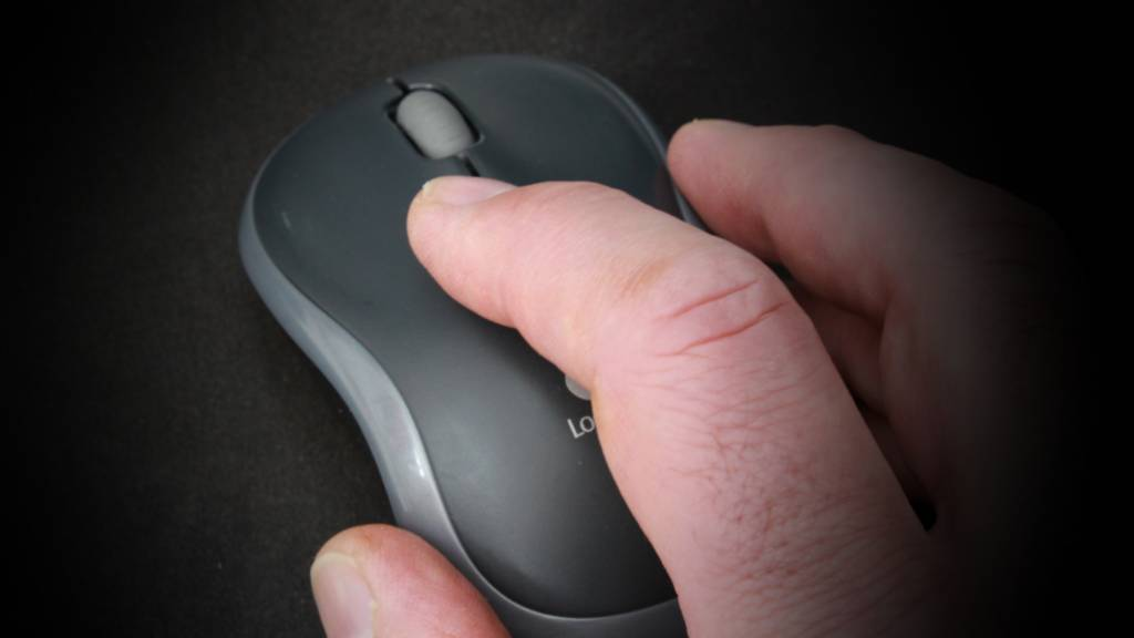 Scroll the mouse wheel or trackpad up