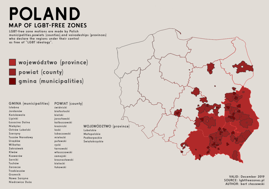 """A third of Poland declared """"LGBT-free zone"""""""