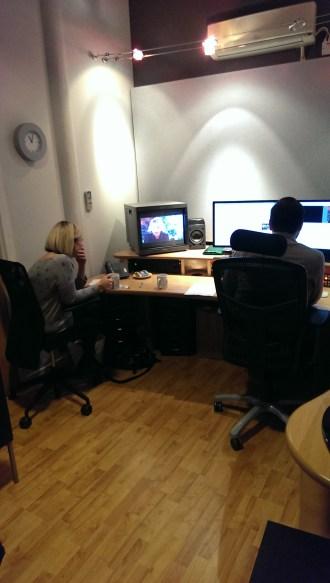 Jen in editing suite
