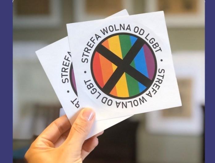 lgbt free zone stickers