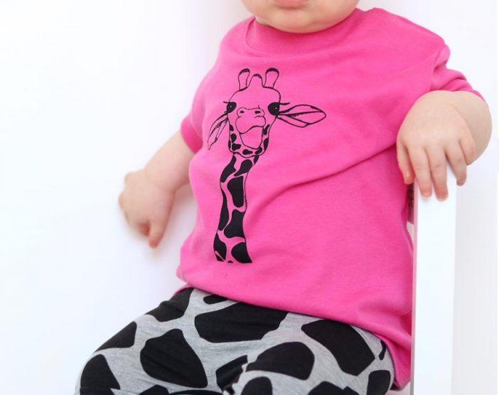 a pink baby shirt