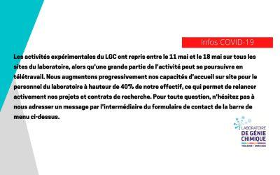 COVID-19 — Le message du LGC