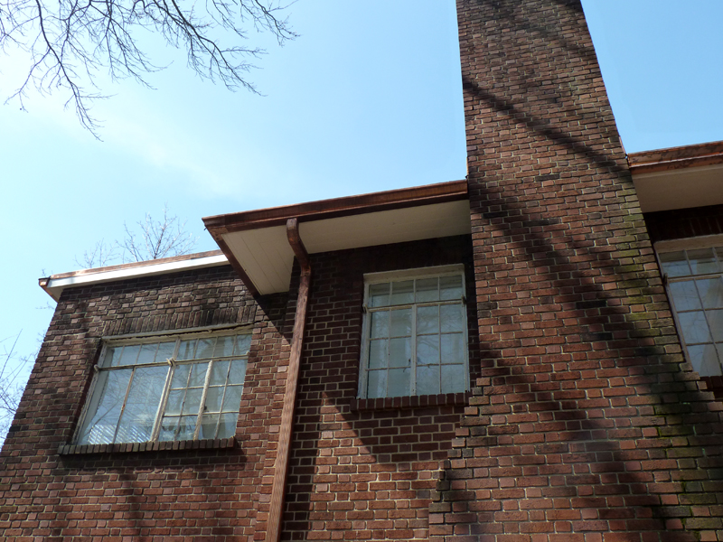 Azek Soffit Copper Gutters – Before & After