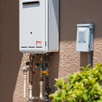 Tankless Water Heater saves space
