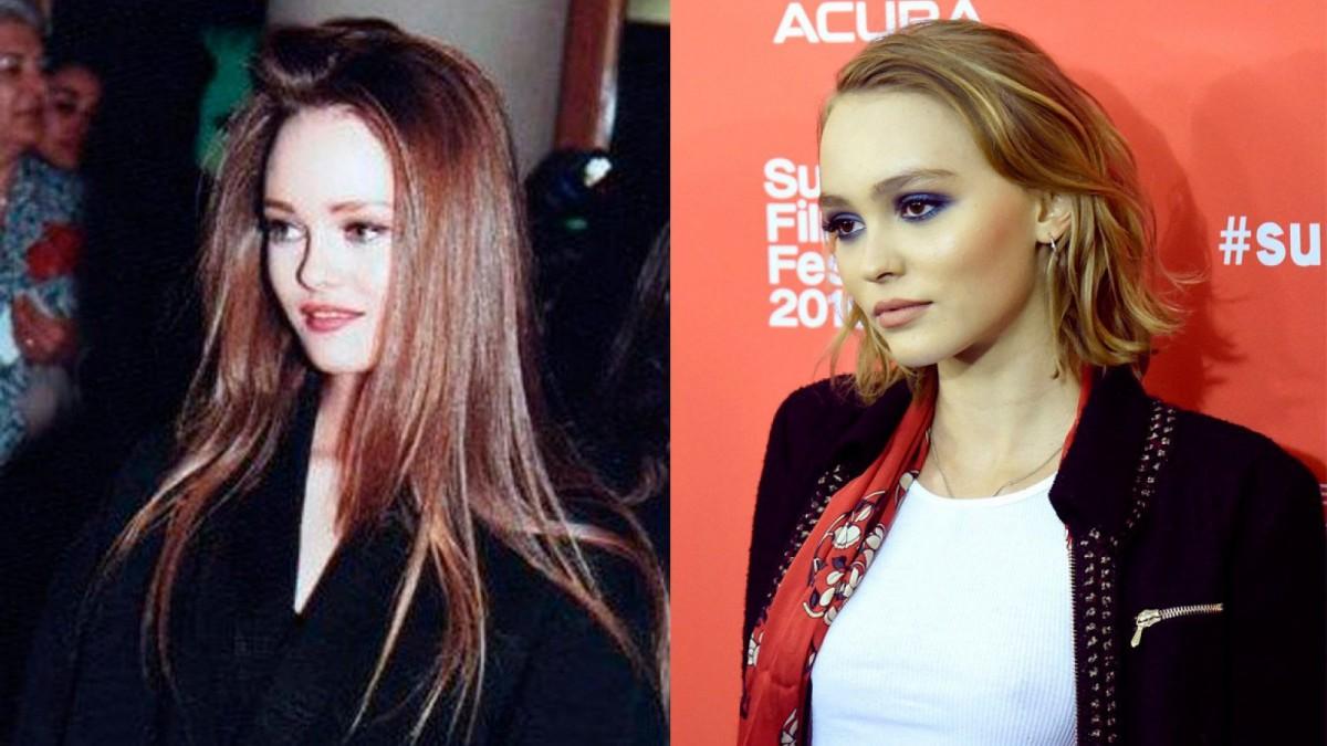 Parecido entre Vanessa Paradis y Lily-Rose Depp