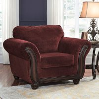 Chesterbrook Burgundy Chair - Chairs - Living Room ...