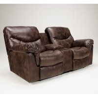 Frontier - Canyon Double Reclining Loveseat w/ Console ...