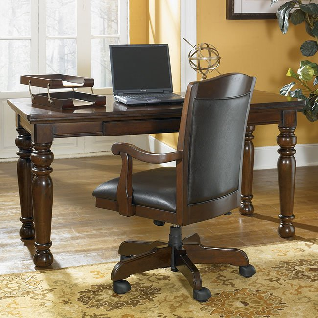 Porter Home Office Set with Leg Desk Signature Design by