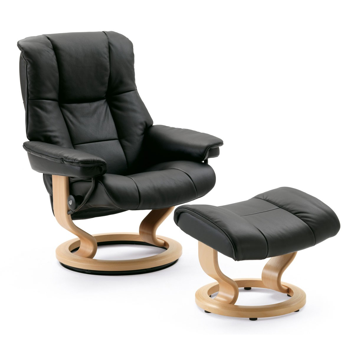 Small Chair With Ottoman Stressless Mayfair Small Recliner And Ottoman From 2 495 00