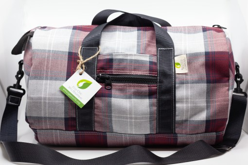 Red-checkered bag