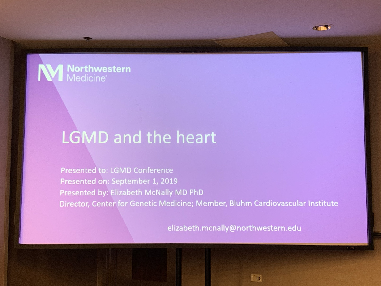 LGMD and the Heart   Dr Elizabeth McNally