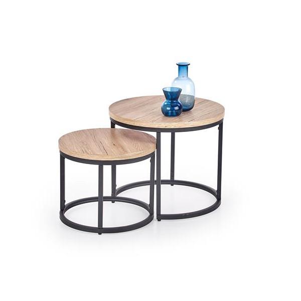 stolik kawowy podwójny