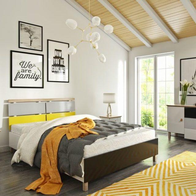 Łóżko Drewniane Z Pojemnikiem Na Pościel