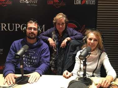 Carlos Zamarriego, Pilar Zapata y Concha Gómez