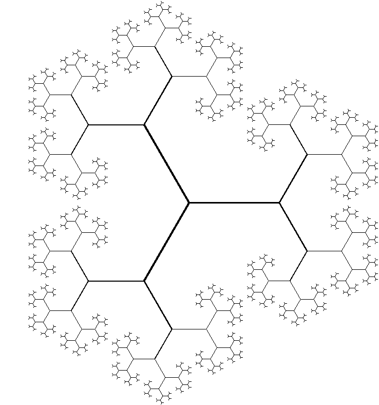 Binary fractal tree