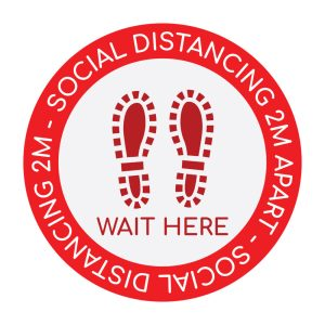 Red Social Distance Sticker