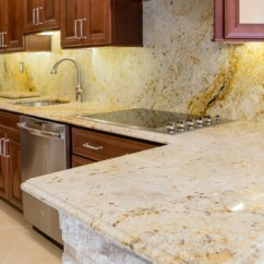 Kitchen Counter Tops Sink Materials How To Keep Your Stone Countertops Damage Free Let S Get Colonial Gold Granite Top