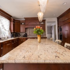 Granite Kitchen Counters One Handle Faucet Why You Need A Island With Natural Stone Top Let S Get Ivory Brown Counter