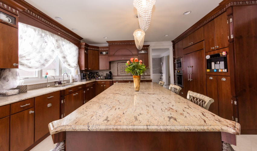 Ivory Brown Granite Kitchen  Lets Get Stoned