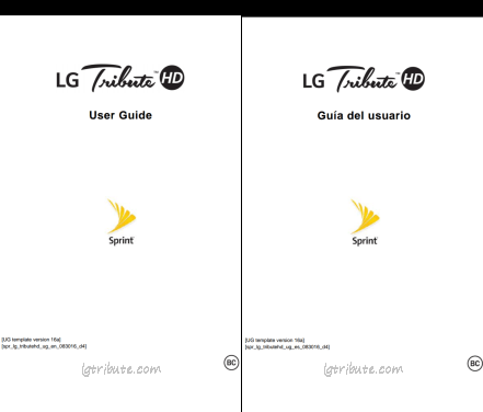 LG Tribute HD User Manual PDF Download-Sprint,Boost